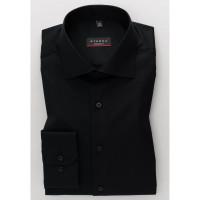 Eterna Hemd MODERN FIT TWILL schwarz mit Classic Kent Kragen in moderner Schnittform