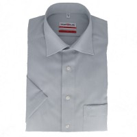 Marvelis MODERN FIT Hemd CHAMBRAY grau mit New Kent Kragen in moderner Schnittform