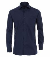 CASAMODA Hemd MODERN FIT UNI POPELINE dunkelblau mit Kent Kragen in moderner Schnittform