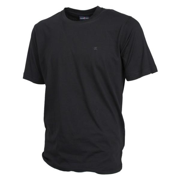 CASAMODA T-Shirt in schwarz mit Rundhals im Doppelpack