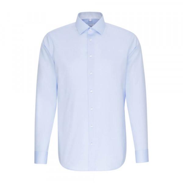 Seidensticker Hemd SHAPED CHAMBRAY hellblau mit Business Kent Kragen in moderner Schnittform