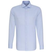 Seidensticker SHAPED Hemd FEIN OXFORD hellblau mit Spread Kent Kragen in moderner Schnittform