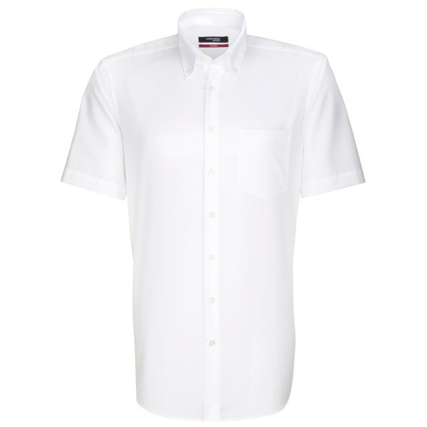 Seidensticker REGULAR Hemd UNI POPELINE weiss mit Button Down Kragen in moderner Schnittform