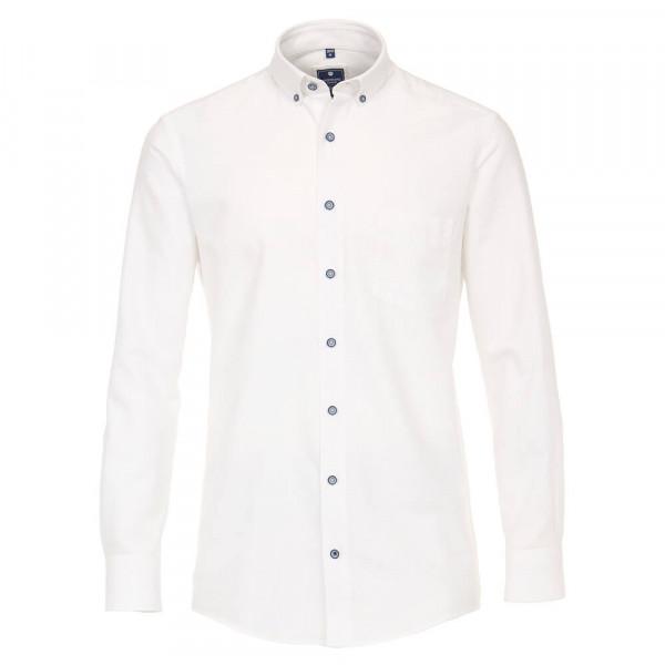 Redmond COMFORT FIT Hemd STRUKTUR weiss mit Button Down Kragen in klassischer Schnittform