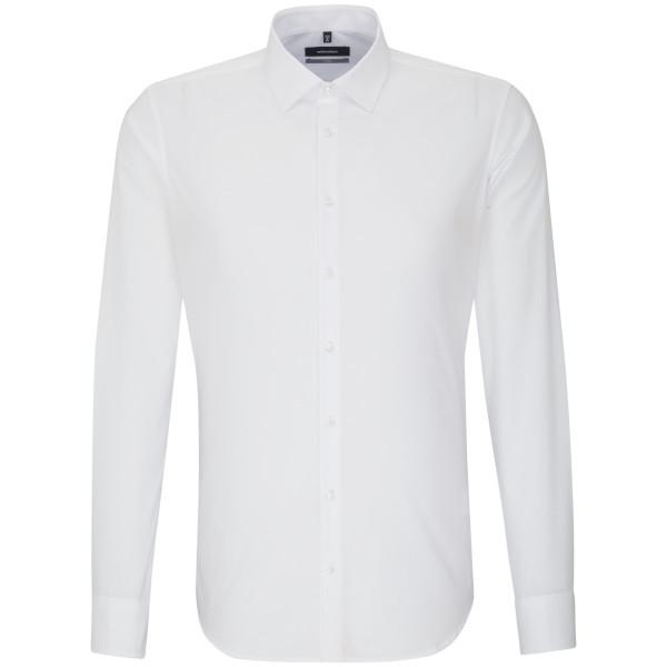 Seidensticker X-SLIM Hemd UNI POPELINE weiss mit Business Kent Kragen in super schmaler Schnittform