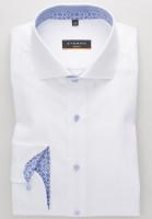 Eterna Hemd SLIM FIT NATTÉ weiss mit Hai Kragen in schmaler Schnittform