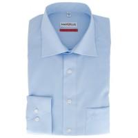 Marvelis COMFORT FIT Hemd UNI POPELINE hellblau mit New Kent Kragen in klassischer Schnittform