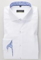 Eterna Hemd SUPER SLIM TWILL weiss mit Hai Kragen in super schmaler Schnittform