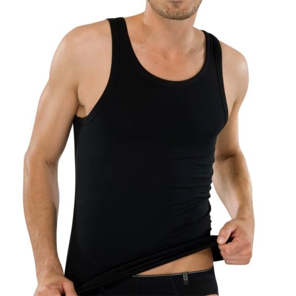 """Schiesser """"95/5"""" schwarzes Shirt"""