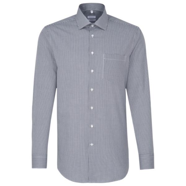 Seidensticker REGULAR Hemd OFFICE dunkelblau mit Business Kent Kragen in moderner Schnittform