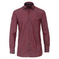 CASAMODA Hemd COMFORT FIT UNI POPELINE rot mit Button Down Kragen in klassischer Schnittform