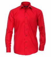Chemise CASAMODA COMFORT FIT UNI POPELINE rouge avec col Kent en coupe classique