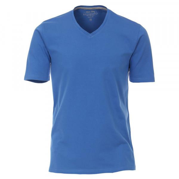 Redmond T-Shirt mittelblau in klassischer Schnittform