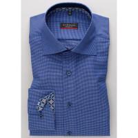 Eterna Hemd MODERN FIT NATTÉ dunkelblau mit Classic Kent Kragen in moderner Schnittform