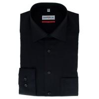 Marvelis COMFORT FIT Hemd UNI POPELINE schwarz mit New Kent Kragen in klassischer Schnittform