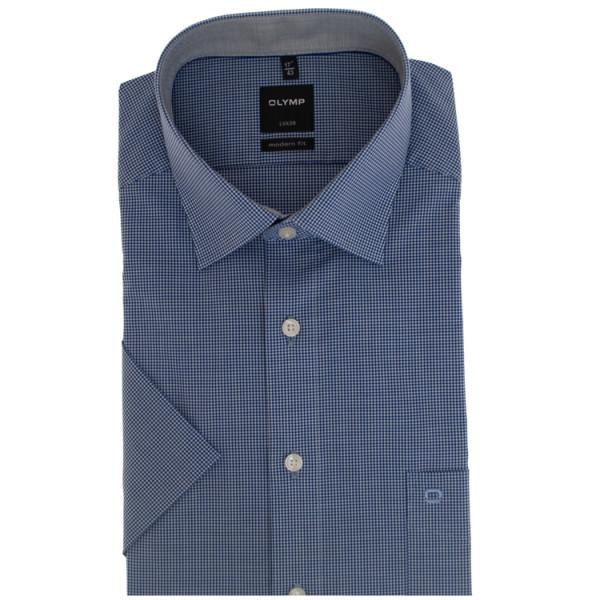 OLYMP Luxor modern fit Hemd OFFICE dunkelblau mit New Kent Kragen in moderner Schnittform