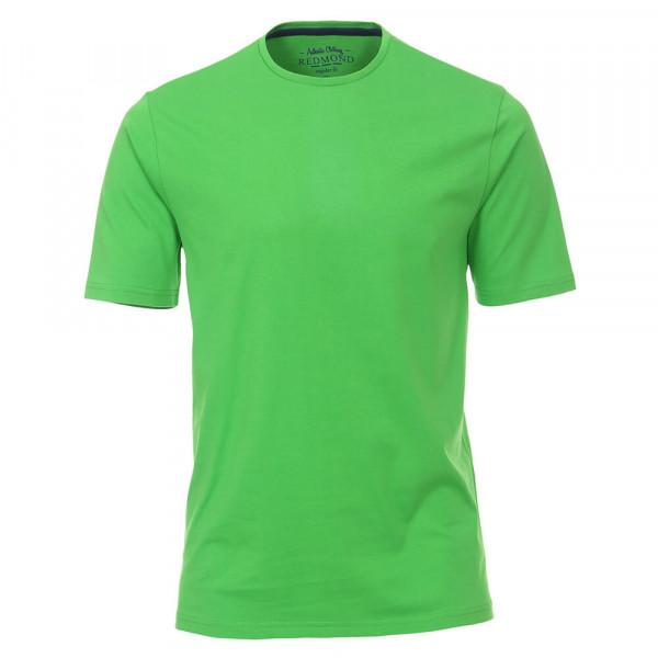 Redmond T-Shirt grün in klassischer Schnittform